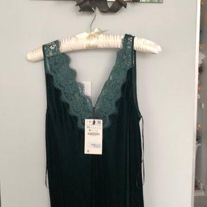 Velvet sexy midi dress